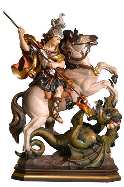 hl georg mit pferd aus holz geschnitzter hl georg mit pferd hl georg mit pferd aus holz. Black Bedroom Furniture Sets. Home Design Ideas